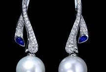 Platinum earrings
