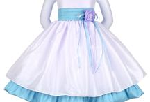 Blue Flower Girl Dresses / Our collection of blue flower girl dresses at the ChildrensDressShop.com