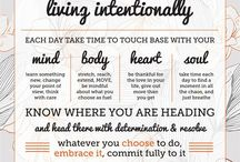 Intentional Living + Simplifying / Living intentionally and simply can be a great change for your life. Read these articles to learn more about it.