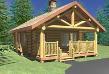 Beachcomber - 484 Sq. Ft. (44.9 sq m) / R.C.M. CAD DESIGN DRAFTING LTD is an architectural design firm primarily specializing in log and timber construction projects. We feature over 150 of our most creative designs categorized by living space total square footage. North America - Europe - Asia