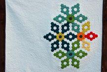 Quilts de hexágonos, hexagon quilts