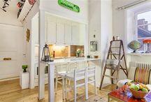 Living + kitchen / studio decor