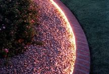 Outdoor LED ideas / You can create a colorful garden, an amazing environment. LED lights is your key to success!