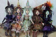 Witch rag dolls