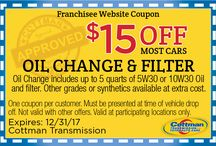 Cottman Transmission Coupons / Cottman Transmission Coupons! Redeemable at any location!