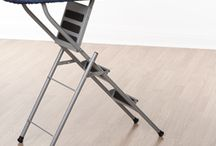 ILad Ironing Board / The iLad combines an ironing board and stepladder, two essential household items –for the purpose of space saving and ease of access.