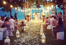 Sunset & Twilight Weddings / Inspirations for a romantic, whimsical, wedding party at sunset.