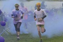 Colour Dash / MORE than 2,600 people ran 5km through clouds of coloured paint at Bluebell Wood's Colour Dash. The line-up included many friends and family of loved ones supported by the North Anston children's hospice. They were showered with powder paints at every kilometre of the route at Rother Valley Country Park.