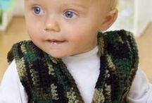 Crochet patterns / Boy army hat and gilet