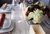 TABLE SETTING/ DECOR / Table decor and inspiration for hosting a dinner party