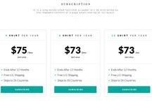 ! pricing / subscription - webdesign block
