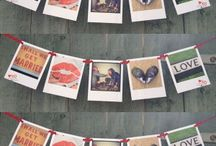 Personalised Polaroid Style Bunting  / http://www.heartkisshug.com/products/polaroid-style-bunting  Pick your favourite photos to create your own personalised Polaroid Style Bunting.   Email your photos to emma@heartkisshug.com   Your bunting comes ready made as shown and is supplied with two mini pegs and wrapped as shown and measures 1.5m in total.  Each photo is printed on to thick card with a gloss finish to look just like a Polaroid.   Each Polaroid style photo measures 6x6cm