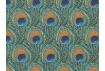 Peacock Feather Fabric / A variety of peacock feather print and feather patterned craft, wedding, home decor, and other fabric for those who love to  sew and create do-it-yourself / DIY crafts.