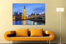 Κτίρια & πόλεις, πίνακες σε καμβά / Πίνακες σε βαμβακερό καμβά, εκτύπωση με ψηφιακή εκτύπωση