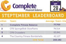 Steptember 2015 / Check out the CFB team's progress scores for each week of Steptember. The scores have been averaged to account for team sizes, but the team is aiming to reach 3,28000 steps as a total - or roughly 2500 kms!