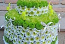 Tartas de flores naturales / Tartas de flores naturales disponibles en www.floristeriafernando.com