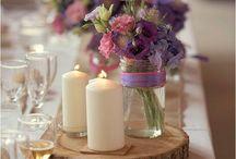 fiolet - inspiracje weselne