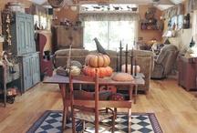 Primitive Fall decorating