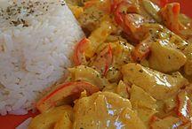 Viandes / Poulet au curry coco