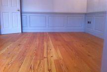 pine flooring / Pine flooring sanded and sealed.