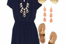 Navy dress outfits