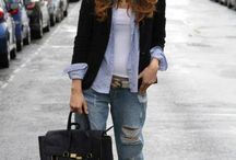 BOYFRIEND JEANS - TREND - HOW TO WEAR / How to wear boyfriend jeans.  Currently trending for F/W2014 , F/ 2014 2015, Fall 2014, Winter 2015, Winter 2014, A/W , A/W2014, A/W2015.  Part of the http://reasonstodress (Reasons to Dress .com) series on mom style and mom outfit inspiration.  Outfit inspiration boyfriend jeans / by reasonstodress