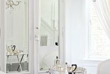 French White / How to style a vintage home with exquisite and elegant French white furnishings.
