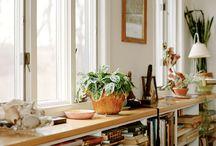 Cottage dining room shelf