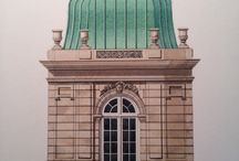 Architectural Watercolors and Drawings / by MICHAEL HAMPTON DESIGN