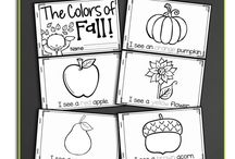 Fall for Early Learners / Activities related to a fall theme: art, math, reading, writing, motor skills, science...