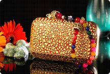 Wooden Clutch / One of the most adored range of Urja Utsav, Clutches. Our clutches are made out of single piece of wood and are foiled with pure gold foil. No words required. A sheer treasure!