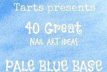Crumpet Nail Tarts Presents - Pale Blue / Crumpet Nail Tarts Presents 40 Great Nail Art Ideas #40gnai
