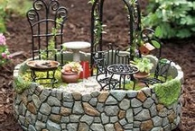 Miniature garden and garden fairies / No Boring White is fascinated by Miniature garden and garden fairies! Such talent and patience! Be inspired!