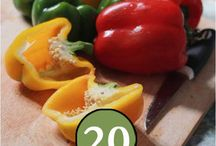 Peppers / Health benefits of peppers and some recipes to help you navigate your way through your CSA delivery this month!