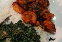 tayerblad met garnalen en rijst
