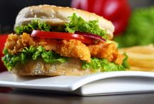 Crisp Chicken Burger / Crispy chicken burger is all time favorite meal for all kids and also for the youngsters. You can fill lunch boxes, picnic baskets, evening snacks with these crispy and delicious homemade burgers.
