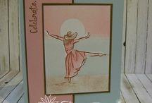 Dancing   girl  cards