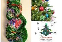 """Holiday Yarn from Indie Dyers / I love knitting a pair of """"Christmas socks"""" every year, especially from indie, hand-dyed yarns!"""