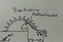 Tiny Vulgar Unicorn / I love this little b*st*rd.