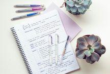 MyKindOfPorn / Well written journals and tidy desks.