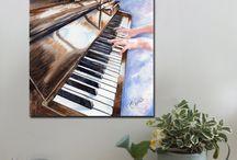 Music / Art prints and canvas prints www.splashyartystory.com
