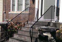 Iron Railings by Babin Ironworks / Custom fabricated wrought iron (steel) interior railings and outdoor railings by Babin Ironworks in North Bay, Ontario.