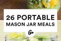 Mason jar foods for work.