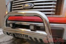 Grill Guards, Bumpers, Bull Bars & Push Bars / Chrome grille guards, black grill guards and other brands such as Westin, Aries Off Road, Smittybuilt, Luverne, and more.
