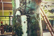 pohon imajinasi / painting on tree