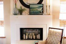 Fireplace/mantel
