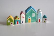 domečky- keramika