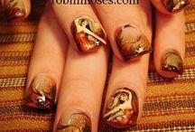 Fall, Thanksgiving and Pre-Holiday Nail art / Fall Nail Art Design Tutorials