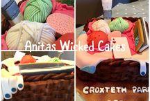 Novelty Knitting cake