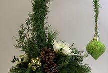Efterårs og julepynt dekorationer